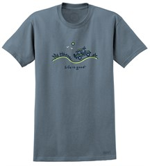 "CLOSEOUT - Life is Good ""Beach Ride"" Men's Tee on Extra Blue"
