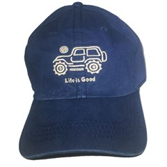 "Life is good Chill Cap - White Ride on ""True Blue"" Hat"