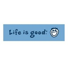 Life is good Coin Bumper Sticker