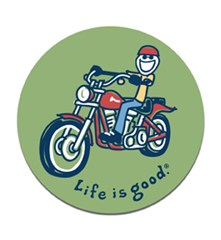 Life is Good - Jake on a Motorcycle