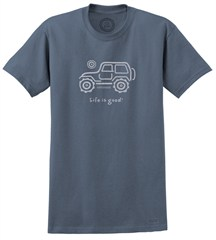 "Life is good ""Native Offroad"" short sleeve Men's Tee (True Blue)"