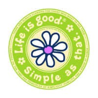 "Life is good Round 4"" Sticker - Daisy Simple As That"