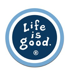 Life is good Round Car Magnet- True Blue/Dark Blue