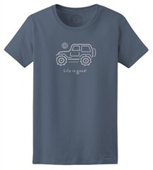 "Life Is good Women's ""Native Offroad"" Shirt in True Blue"