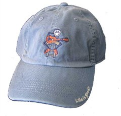 "Life is Good ""Acoustic Jake with Guitar"" Baseball Hat, Shadow Blue"