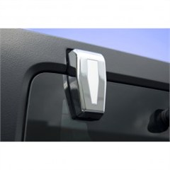 Lift Gate Hinge Covers, Chrome, Rugged Ridge, JK (2007-2014) With Hardtop