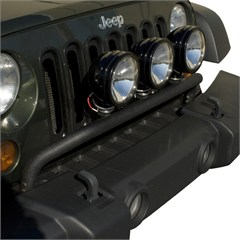 Textured Black Bumper Mounted Light Bar - Jeep Wrangler JK (2007-2015)