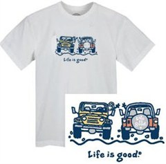 "Life is Good ""The Wave"" T-Shirt - Cloud White"