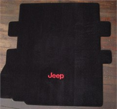 Lloyd Custom Jeep Cargo Mat (with seat cutout) w/Jeep� Logo Embroidery For 2007-2011 Jeep� Wrangler JK 2 Door