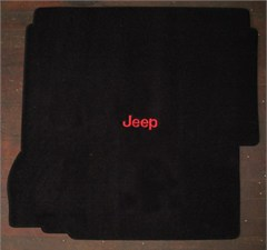 Jeep® Logo Rear Cargo Mat with for 2007-2010 Jeep® Wrangler Unlimited JK W/Subwoofer, by Lloyd Mats