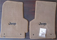 Lloyd Custom Jeep Floor Mats (2 Front Mats) with Jeep® Logo For '97-'99 Jeep® Wrangler
