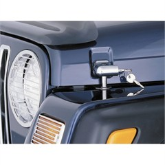 Chrome Locking Hood Catch Kit for Jeep Wrangler TJ, LJ 1998-2006
