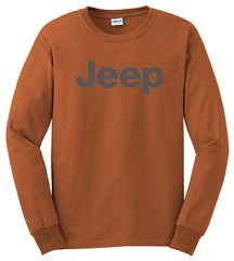 Long Sleeve T-Shirt with Dark Gray Jeep Logo
