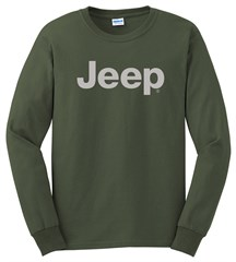 Long Sleeve T-Shirt with Light Gray Jeep Logo