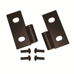 Black Lower Door Hinge Brackets - Jeep CJ, YJ, TJ, LJ 1976-2006