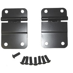 Lower Tailgate Hinge, 1976-1986 (CJ), Black