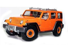 Maisto 1:18 Jeep Rescue Concept Diecast Model, Metallic Orange