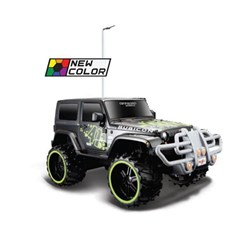 Maisto 1:16 Off-Road R/C Jeep Wrangler Rubicon, Remote Control (2 Color Options - White or Orange)