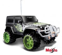 Maisto 1:16 Off-Road R/C Jeep Wrangler Rubicon, Remote Control, Black