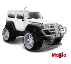 Maisto 1:16 Off-Road R/C Jeep Wrangler Rubicon, Remote Control, White