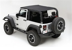 Mesh Island Top, Rugged Ridge, Jeep Wrangler JK 2-Door (2010-2014), Black