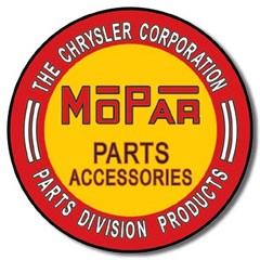 MOPAR Parts Accessories Round Metal Sign