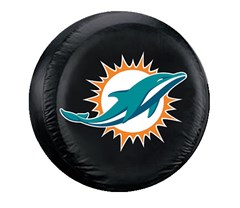 Miami Dolphins NFL Tire Cover - Black Vinyl