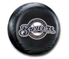 Milwaukee Brewers MLB Tire Cover - Black Vinyl