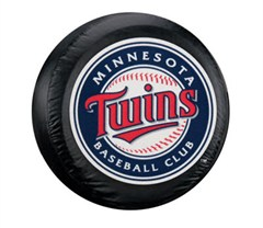 Minnesota Twins MLB Tire Cover - Black Vinyl