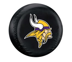 Minnesota Vikings NFL Tire Cover - Black Vinyl