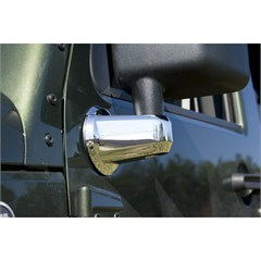 Mirror Arm Covers, Rugged Ridge, JK (2007-2014), Pair, Chrome