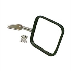 Mirror & Arm Only, Right Hand, 1958-1986 (CJ) With Convex Mirror Glass For Passenger Side, Stainless