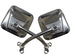 Mirror Kit, 76-95 Jeep CJ & Wrangler YJ, Stainless