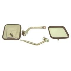 Mirror Kit, (CJ) Style, 1997-2006 Wrangler, Stainless