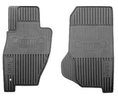 Mopar Front Slush Mats for Jeep Liberty 2002-2007, 2 Mats, Dark Slate