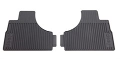 Rear Slush Mats for Jeep Liberty 2002-2007 in Slate Grey by Mopar