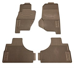 Mopar Front & Rear Slush Mats for Jeep Liberty 2002-2007, 4 Mats, Dark Taupe