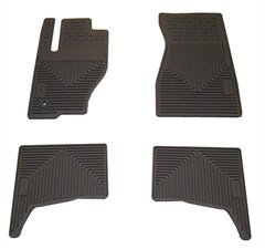 Mopar Front & Rear Slush Mats for 2008-2010 Grand Cherokee WK, Dark Slate Grey