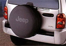 CLOSEOUT - JEEP Logoed Deluxe Anti-Theft Tire Cover (Black or Grey Logo)