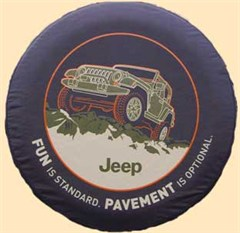 "Jeep Tire Cover, ""Pavement Optional"", by Mopar"