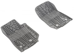 MOPAR Front/Rear Slush Mats for 2/4 door 2014 JK, Tire Tread Pattern
