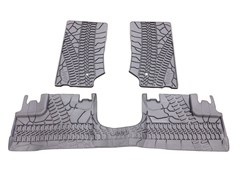 MOPAR Front/Rear Slush Mats for 4 door 2014 JK, Tire Tread Pattern