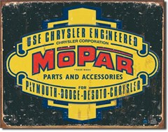Mopar 1937-1947 Logo Metal Sign