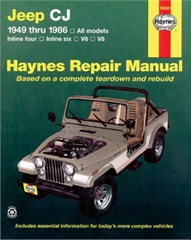 Haynes Jeep CJ, 1949-1986 Softcover Book