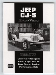 Jeep CJ-5 Limited Edition 1960-1975 Soft Cover Book