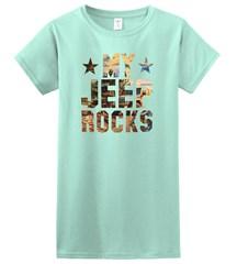 My Jeep Rocks Women's T-Shirt in Spring Green
