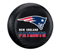 New England Patriots NFL Tire Cover - Black Vinyl