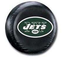 New York Jets NFL Tire Cover - Black Vinyl