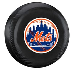 New York Mets MLB Tire Cover - Black Vinyl