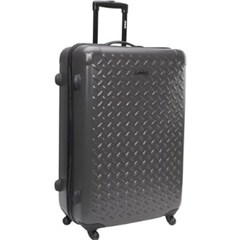 "Jeep Hard Sided Luggage, 20"" Upright, Charcoal Grey, Multi-directional Wheels, Telescoping Handle"